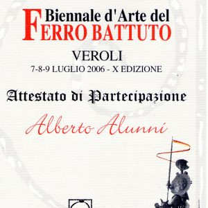 2006 Veroli Attestato