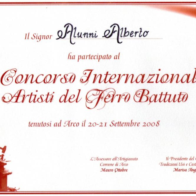 2008 Arco di Trento Attestato