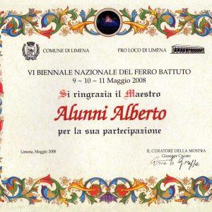 2008 Limena Attestato