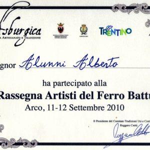 2010 Arco di Trento Attestato