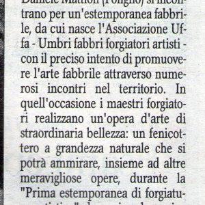 2011 Foligno Corriere dell'umbria 13 maggio 2011