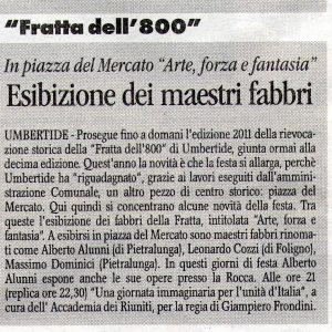 2011 Umbertide Corriere dell'umbria 17 Settembre 2011