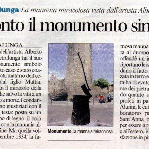 2013 Pietralunga Corriere dell' Umbria 25 Agosto 2013