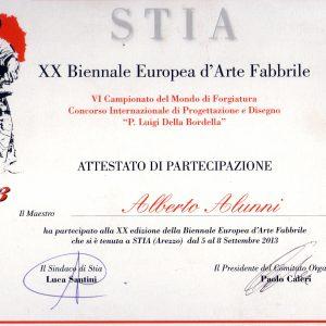 2013 Stia Attestato