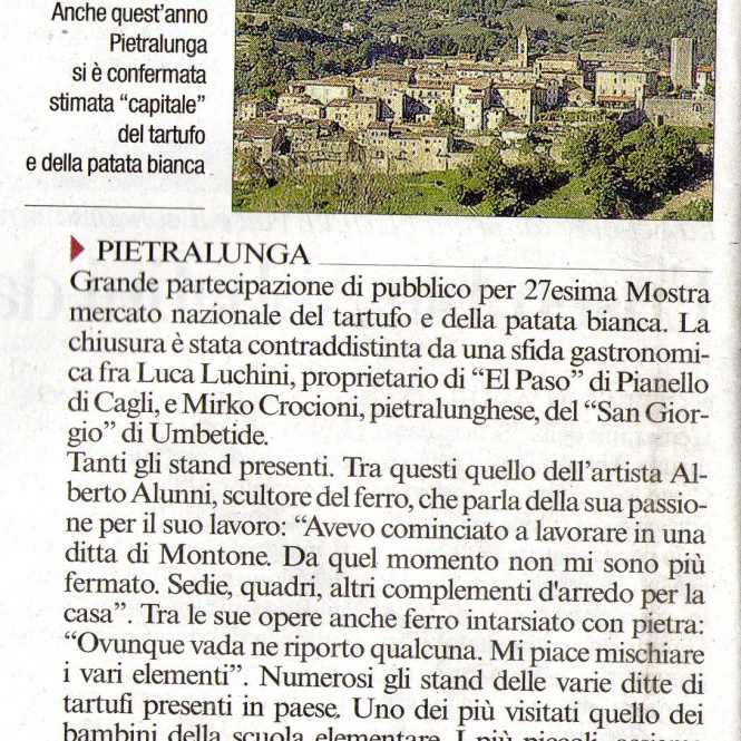 2014 Pietralunga Corriere dell'Umbria 28 Ottobre 2014