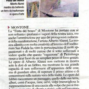 2015 Montone Corriere dell umbria festa del bosco 2015