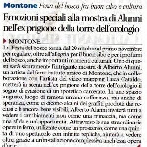 2016 Resilienza Montone corriere dell'umbria 20 ottobre 2016