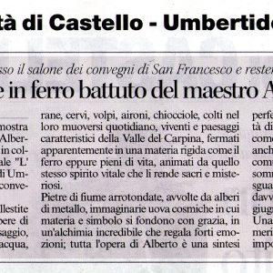 2016 Umbertide Corriere dell' Umbria 12 maggio 2016 ad occhi aperti umbertide