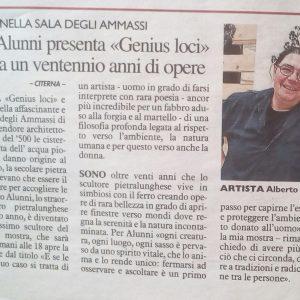 2018 Genius Loci Citerna La Nazione Umbria 27.04.2018