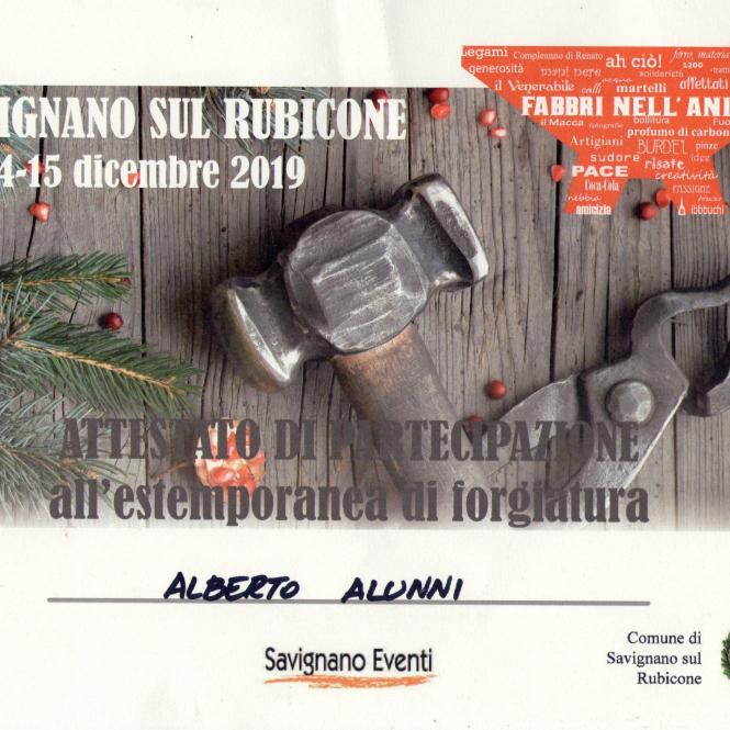 2019 Savignano Attestato